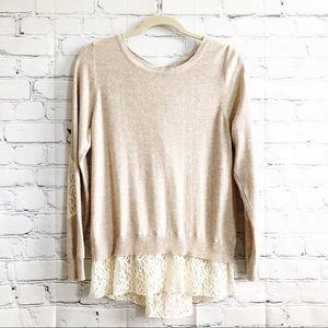 Anthropologie Parted Pullover Cashmere Sweater